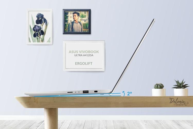ASUS VivoBook Ultra A412DA dengan fitur Ergolift